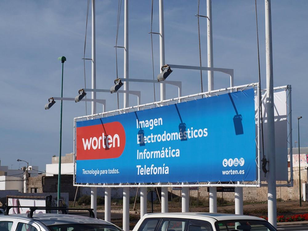 Gigantografía lona impresa, Worten Lanzarote