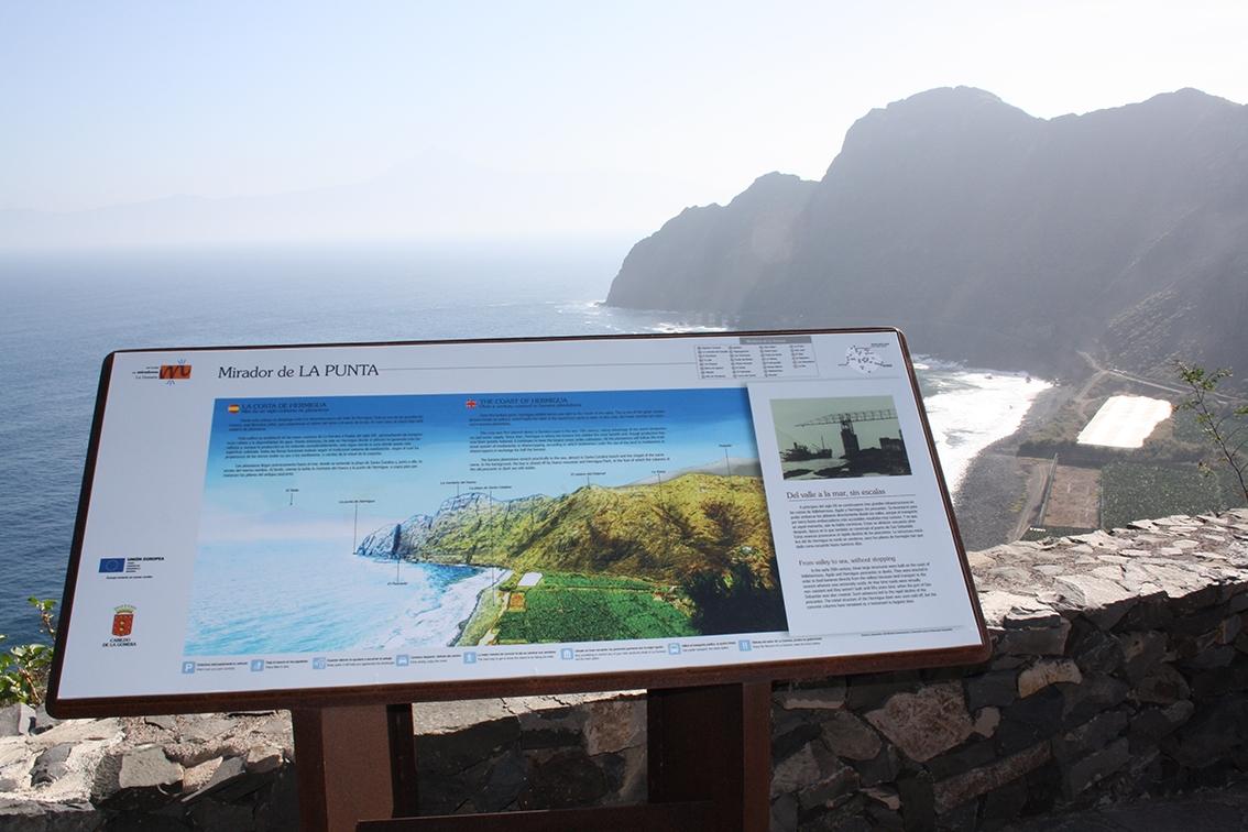Mesa interpretativa, miradores isla de la Gomera.