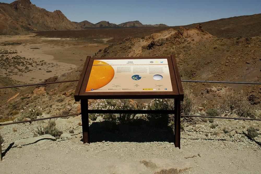 Mesas interpretativas astroturismo, Tenerife