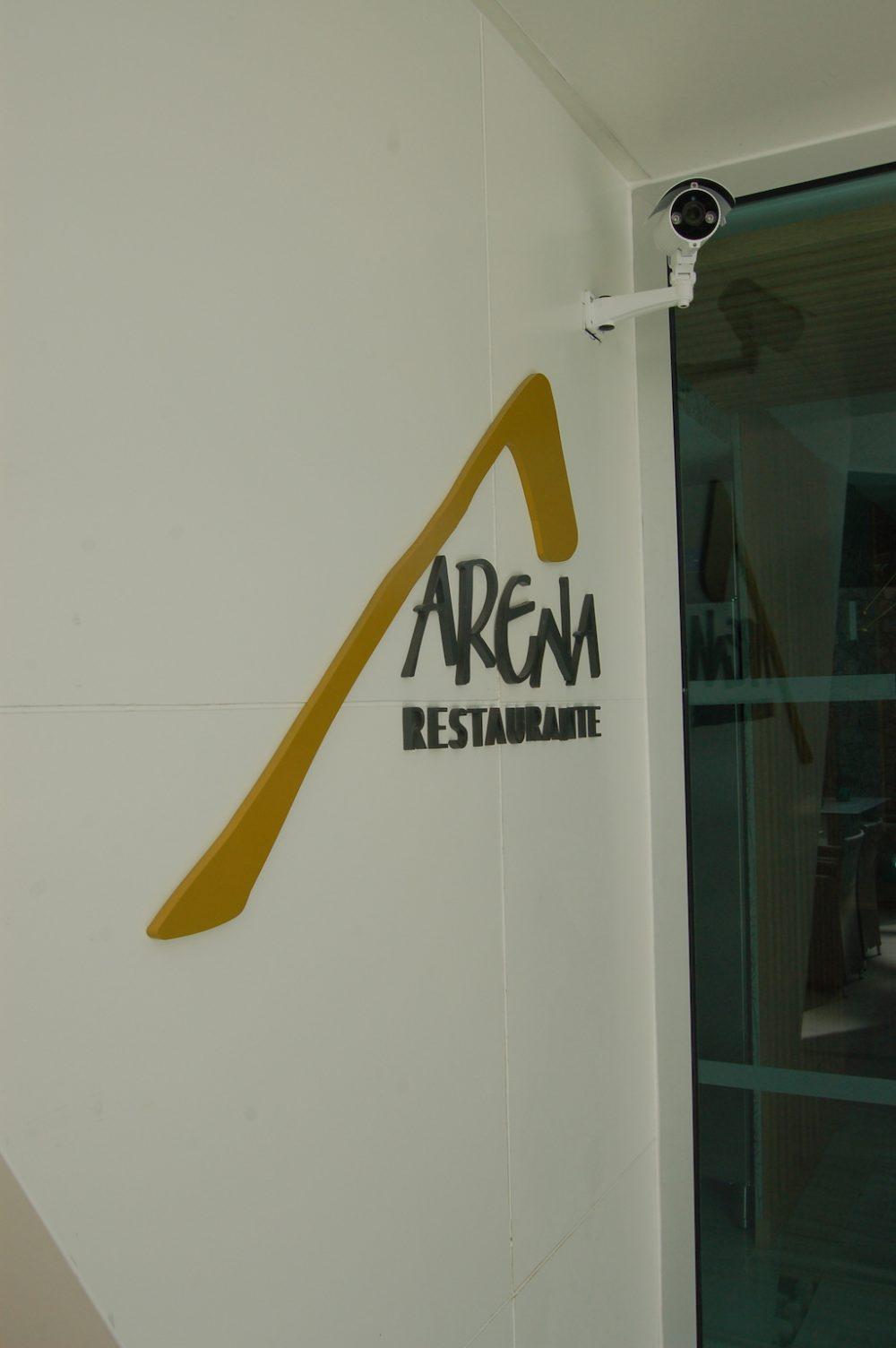 Logotipo corpóreo Restaurante Arena, Gran Canaria