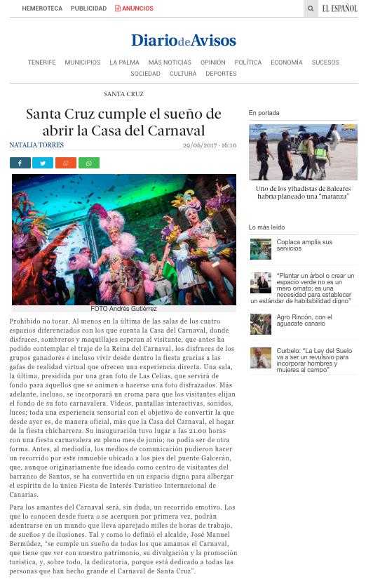Diario de Avisos, Casa del Carnaval, Publexcan