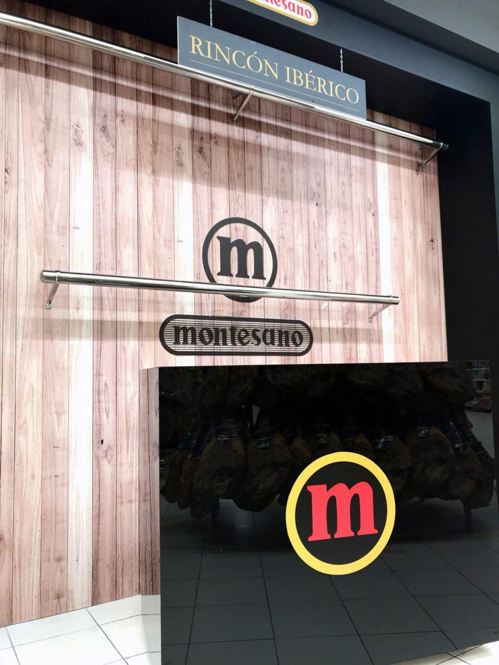 Corner promocional Montesano, C.C Siammall, Tenerife Sur