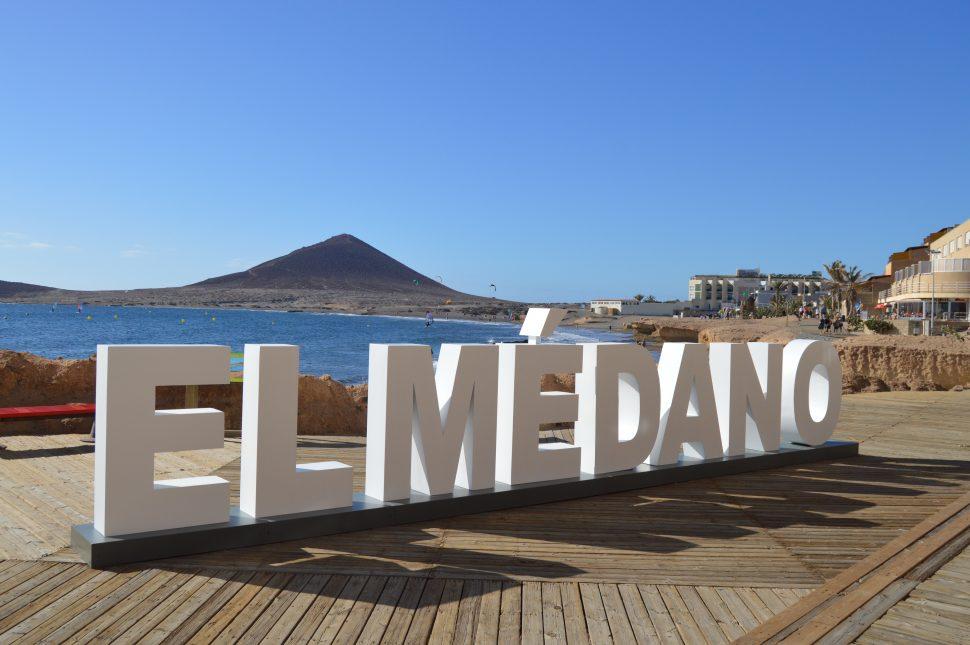 Rótulo corpóreo en acero galvanizado, El Médano, Tenerife.