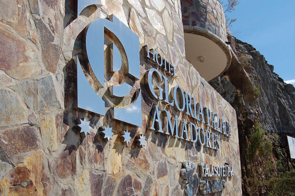 Rótulo corpóreo en acero AISI 316, Gloria Palace Gran Canaria