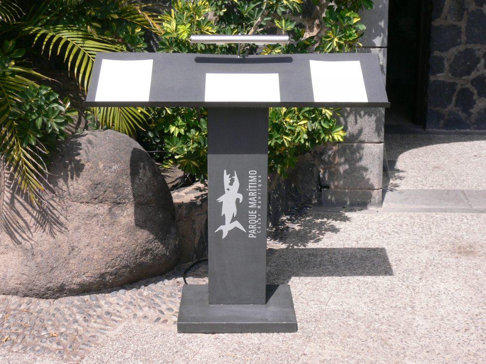 Atril de recepción, Parque Marítimo Tenerife