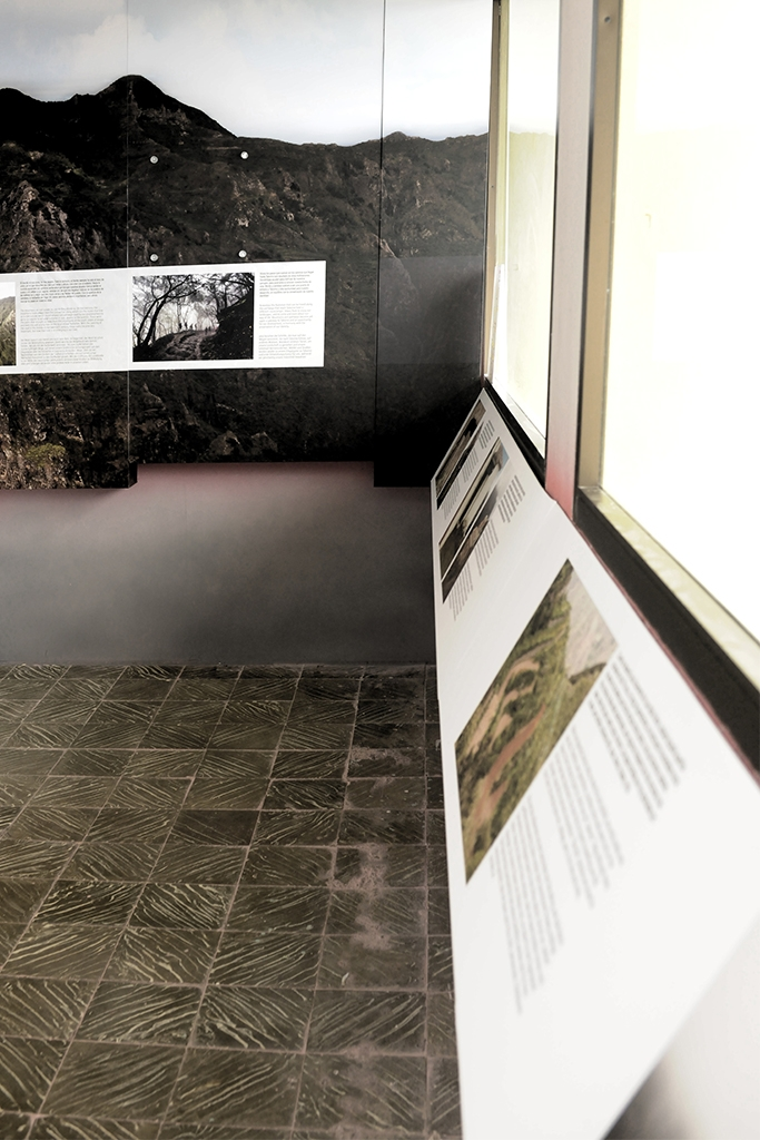 Museo Rural de Taborno, Modulos expositivos impresos a pared