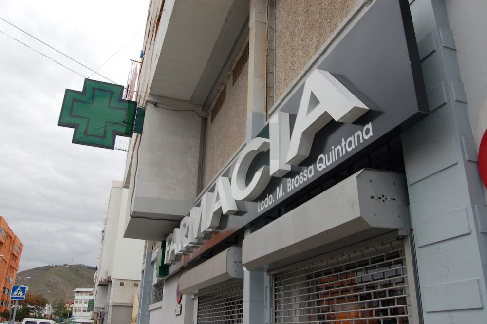 Cruz de farmacia led programable, Gran Canaria
