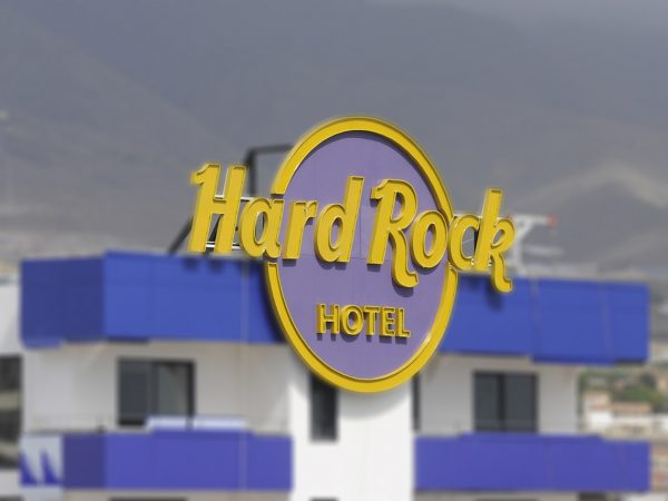 Rótulo Hard Rock Hotel