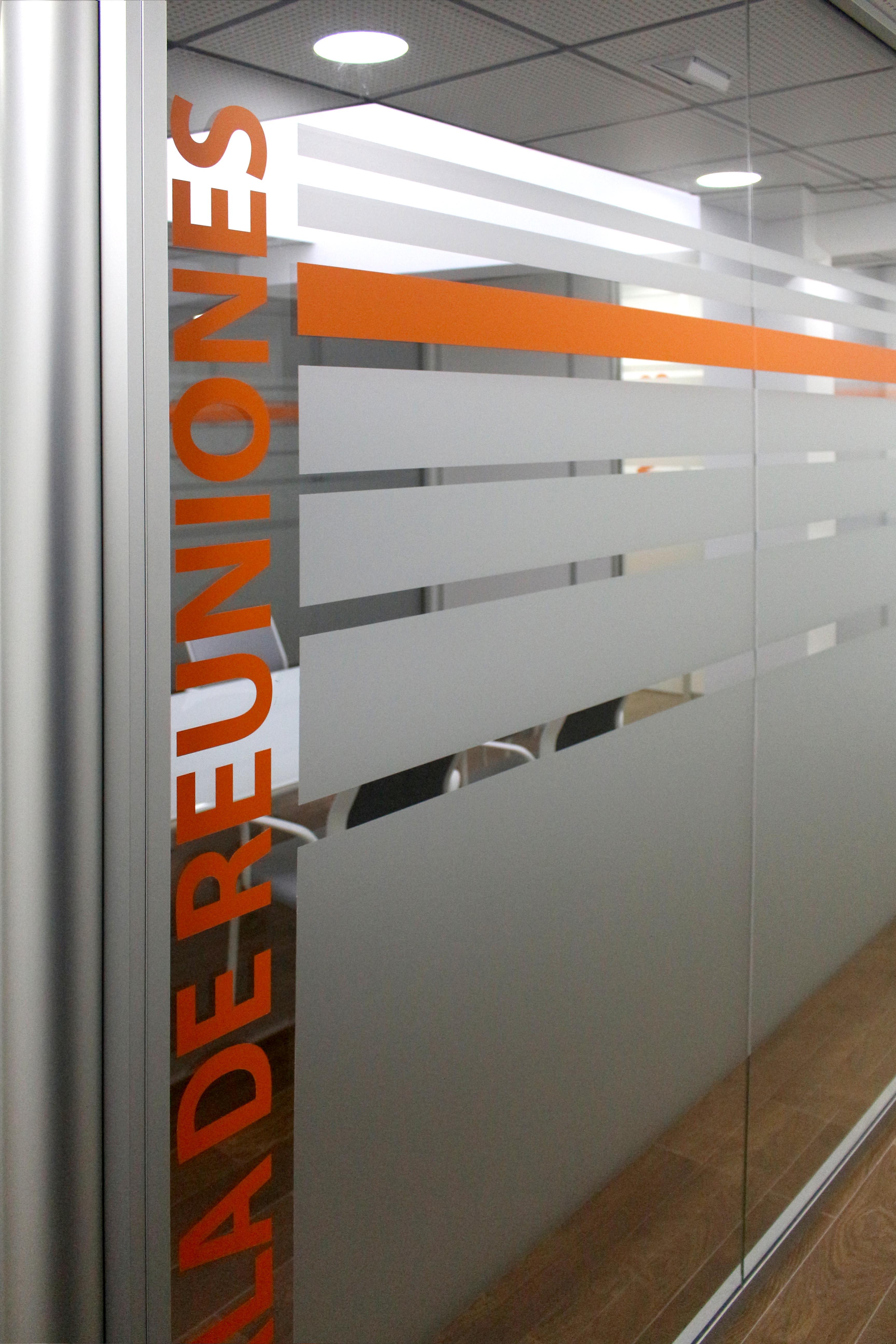 Rotulación y señalización de cristaleras y puertas, Atelier Coworking, Tenerife