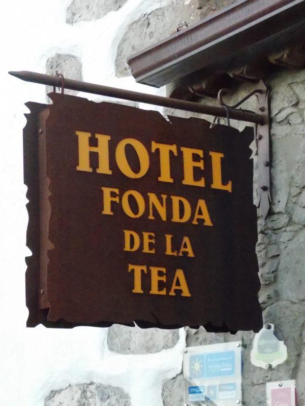 Rótulos en acero cortén Villa de Tejeda en Gran Canaria