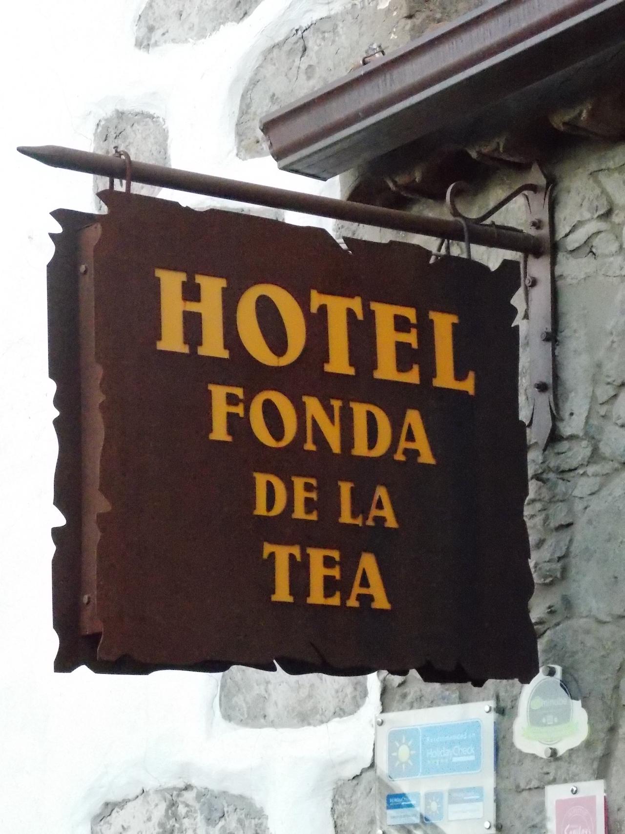 Rótulo tipo banderola, Tejeda - Gran Canaria